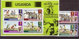 Soccer World Cup 1978 - Football - UGANDA - S/S+Set Ovp MNH - 1978 – Argentine