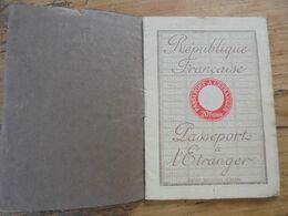 PASSEPORT A L'ETRANGER République Française 1929 André Ver Lot Et Garonne - Historical Documents