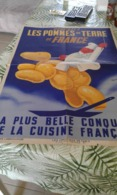 Affiche Ancienne De  R Bleuer  Dégustez Les Pommes De Terre De France - Affiches