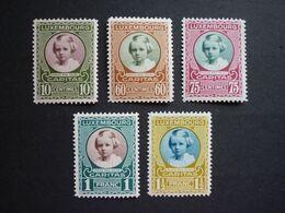 Luxemburg Luxembourg Prinzessin Marie-Adelheid, 1928, Mi 208-212 **, TOP!! (KW: 17,50€) - Nuovi