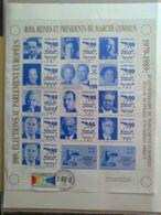Feuille De 15 Vignettes:Rois, Reines Et Présidents Du Marché Commun + Ariane Espace Et Avion Concorde, 1989 - Erinnophilie
