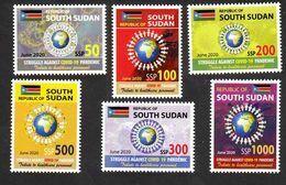 SOUTH SUDAN New 2020 Stamps Issue Health Workers Fighting Covid-19 Pandemic SOUDAN Du Sud Südsudan - Sudan Del Sud