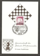 Germany 1979 Dortmund - Chess Cancel On Commemorative Card - Scacchi