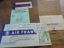BILLET CARTE D'ACCES Et Autres AIR FRANCE Bordeaux Algérie 1957 - Boarding Passes