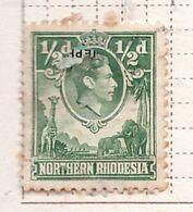 PIA - NORD  RODESIA - 1938-41   : Re  Giorgio VI Con Giraffa E Elefanti  -  (Yv  25) - Rhodesia & Nyasaland (1954-1963)