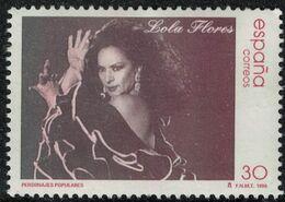 Espagne 1996 Used Lola Flores Chanteuse Danseuse Actrice - 1931-Oggi: 2. Rep. - ... Juan Carlos I