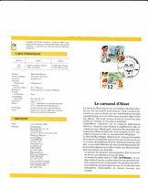 Feuillet Poste FDC 2200 2201 Carnaval De Binche D' Alost Folklore - FDC