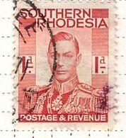 PIA - SUD RODESIA  - 1938 :Re  Giorgio VI  - (Yv  41) - Southern Rhodesia (...-1964)
