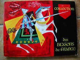 """Album Collection"""" Blasons De France """" Par Fromageries Finas St Félix Haute-savoie. 49 Sur 50 ImageS. Non Panini 14 Scans - Stickers"""