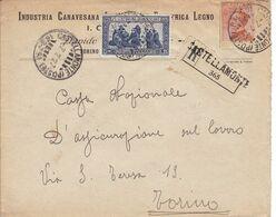 Castellamonte (Poste)Frazionario 63-79 Del 1927 - Storia Postale