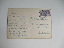 Avion Santander Obliteration Lettre Timbre 3 ,50 Pesetas - 1931-Hoy: 2ª República - ... Juan Carlos I