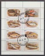 Staffa 1973 Fishes 8v In Sheetlet Used (49634H) - Viñetas De Fantasía