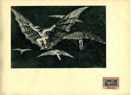 ESPAÑA QUINTA DE GOYA 4P IMPRESION HOJA ILUSTRADA - 1889-1931 Reino: Alfonso XIII