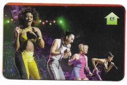 Spice Girls, U.K. Prepaid Phone Card, PROBABLY FAKE, # Spicegirls-6 - Music