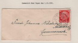 REF1672/ TP 12 Pfg Hindenburg S/L.càp Gemmenich 1/10/91 > E/V - WW II
