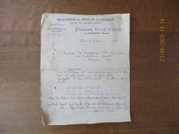 BRASSERIE DU MOULIN DE LESDAIN PIERRE GAUTIER A LESDAIN NORD SPECIALITE DE BIERE BOURGEOISE COURRIER DU 7 MAI 1936 - 1900 – 1949
