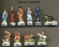 Serie Complete De 10 Feves Davy Crockett - Disney
