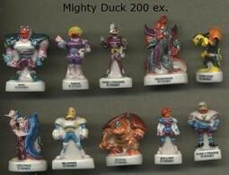 Serie Complete De 10 Feves Mighty Duck - Disney