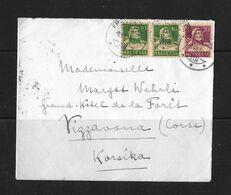 1924 HEIMAT THURGAU → Umschlag Frauenfeld Nach Vizzavona / Korsika  ►Buntfrankatur◄ - Storia Postale