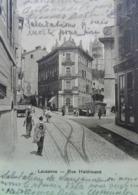 Cpa SUISSE , VD VAUD , LAUSANNE Animée RUE HALDIMAND 1906 , Commerces EDITEUR FRANCO BERNE . SWITZERLAND - VD Vaud