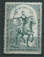 VIGNETTE PATRIOTIQUE DELANDRE - Jeanne D'ARC - Propagande  WWI WW1 Cinderella Poster Stamp 1914 1918 - Vignette Militari