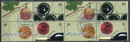 Argentine - 2000 -  Yt 2151/2154 - Le Vin - Les 4 Timbres Issus De La Petite Feuille X 2 - Oblitérés - Oblitérés