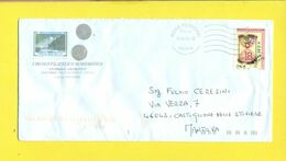 STORIA POSTALE-ISOLATI SU BUSTA -2001-2010 - 6. 1946-.. Republik