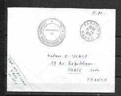 MAROC BATAILLON PARACHUTISTES - Lettres & Documents