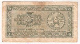 5923   5  LIRE  ISTRA  SLOVENSKO PRIMORJE    ISTRIA FIUME LITTORALE SLOVENO 1945 - Slovenië