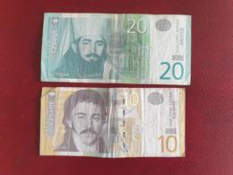 Lot De 2 Billets Circulés De Serbie - Serbien