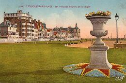 CPA - N - PAS DE CALAIS - LE TOUQUET PARIS PLAGE - LES PELOUSES FLEURIES DE LA DIGUE - Le Touquet