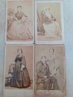 4 Photos De Femmes Avec De Beaux Costumes Vers 1870 2nd Empire - Old (before 1900)
