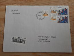 Lithuania Litauen Cover Sent From Garliava To Siauliai 2009 - Lithuania