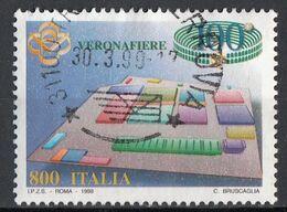 Italia 1998 Uf. 2367 Fiere Nell'economia . 7° Serie : Fiera Di Verona - Viaggiato Used Italy - 1991-00: Usati