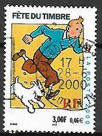 FRANCE   -   2000.  Y&T N° 3303 Oblitéré Cachet Rond.   Tintin Et Milou. - Used Stamps