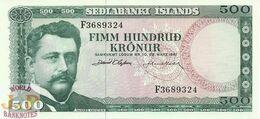 ICELAND 500 KRONUR 1961 PICK 45a UNC - IJsland