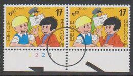 2707 - Jommeke- Gil Et Jo - Perszegels In Paar Met Plaat Nr 2 - 1991-2000