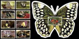 (267+341) Laos / 2003 / Butterflies / Papillons / Schmetterlinge / Vlinders  ** / Mnh  Michel 1859-66 + BL 191 A - Laos