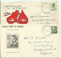 AUSTRALIA 1951/2 GEORGE VI  FDC COVER - Lettres & Documents