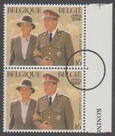 2621 - Koningsfeest - Fête De S.M. Le Roi Albert II - Perszegels In Paar (2) - Ohne Zuordnung