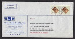 Angola: Cover To USA, 1972, 2 Stamps, Archeology, Fossil?, Swan Radio Advertisment At Back (minor Damage) - Angola