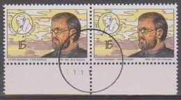2621 - Père Damien - Pater Damiaan - Perszegels In Paar - Plaatnr 1- N° De Planche 1 - 1991-2000