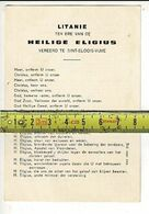 Kl 7493 - LITANIE TER ERE VAN DE HEILIGE ELIGIUS VEREERD TE SINT ELOOIS VIJVE  - BRUGIS 1923 - Andachtsbilder