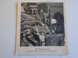 """ZA307.9 Cinema Advertisement   """"Der Urlaub Beginnt""""    - Actress Hansi Knoteck  - Ca 1935 - Publicités"""