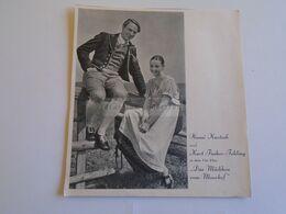 ZA307.11 Cinema Advertisement- Actress Hansi Knoteck - Actor Kurt Fischer-Fehling -''Das Mädchen Vom Moorhof''- Ca 1935 - Publicités