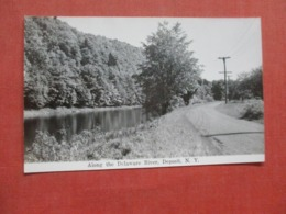 RPPC   Along The Delaware River  Deposit New York  Ref 4320 - NY - New York