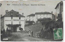 12, Aveyron, VILLEFRANCHE DE PANAT, Quartier Du Foiral, Scan Recto Verso - Andere Gemeenten