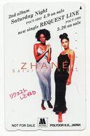 JAPON TELECARTE ZHANE Album Saturday Night Duo De RnB Et Hip-hop Soul Américain - Musik