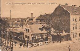 """AK 1915 Gel. Graz Steiermark, Österreich - Roschker's Gasthaus """"Zum Bachwirt"""" Rösselmühlgasse - Graz"""