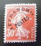 SEMEUSE PREOBLITERE N°58 30c Rouge NEUF Avec GOMME** - 1893-1947